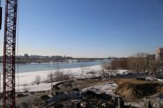 Вид из 12 секции в сторону Коммунального моста
