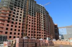В секции 12 выполнено 16 этажей монолитного каркаса