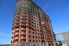 В секции 13 выполнено 16 этажей монолитного каркаса