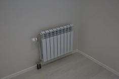 Установлены биметаллические радиаторы отопления