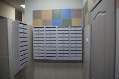 На 1 этаже уже установлены почтовые ящики