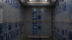 Лифты обшиты защитным материалом