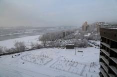Вид в строну Октябрьского моста из 10 секции