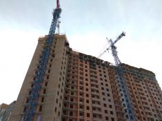 В 16-17 секции строят монолитный каркас 20 этажа