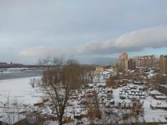 Вид из 17 секции в сторону Октябрьского моста