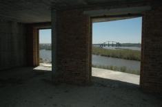 Вид на новый мост через Обь из окон дома